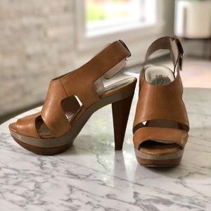 MICHAEL Michael Kors tan platform heels